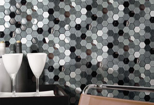 hexgonal glass mixed product image
