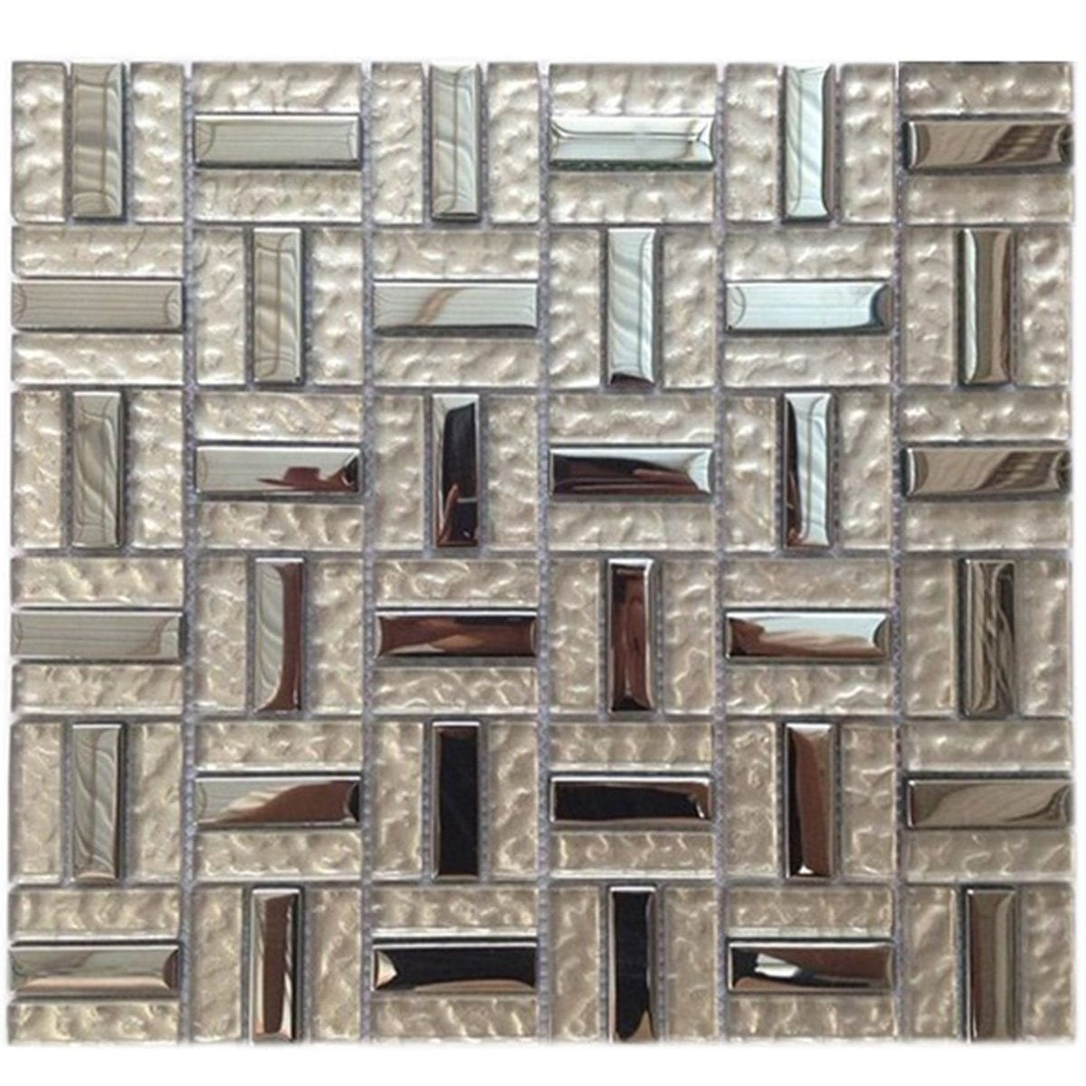 Glass Mosaic Lt Copper Metallic M50123
