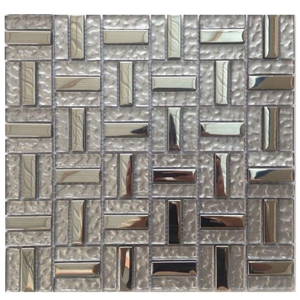 Glass Mosaic Lt Copper Metallic M50125