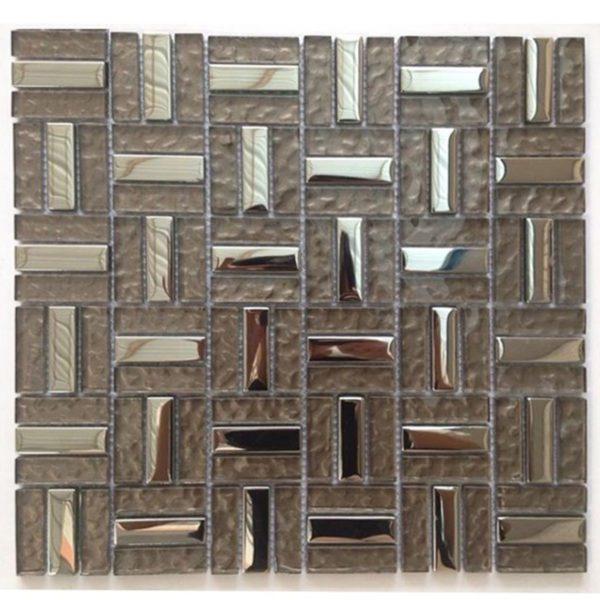 Glass Mosaic Lt Silver Metallic M50124