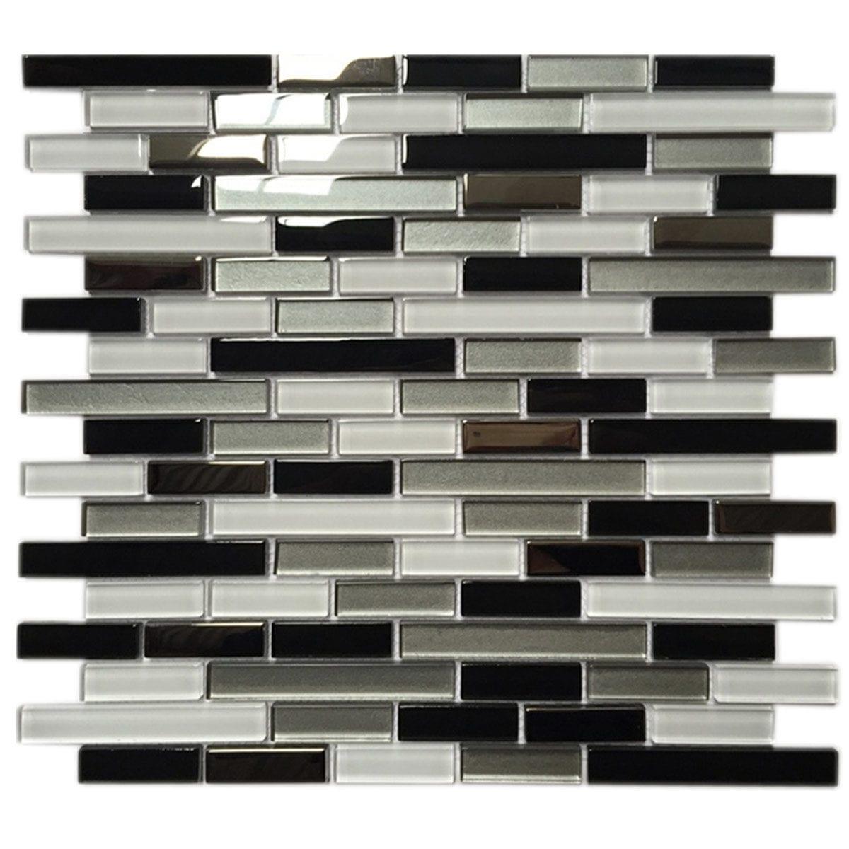 M4T031 1 Brick pattern White grey black metalic finish COVER
