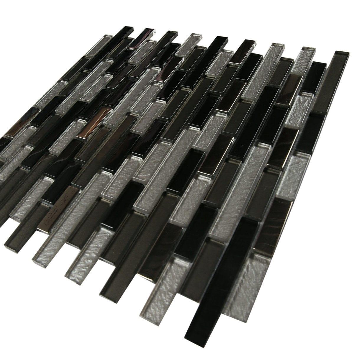 M4T031 2 Brick pattern White grey black metalic finish