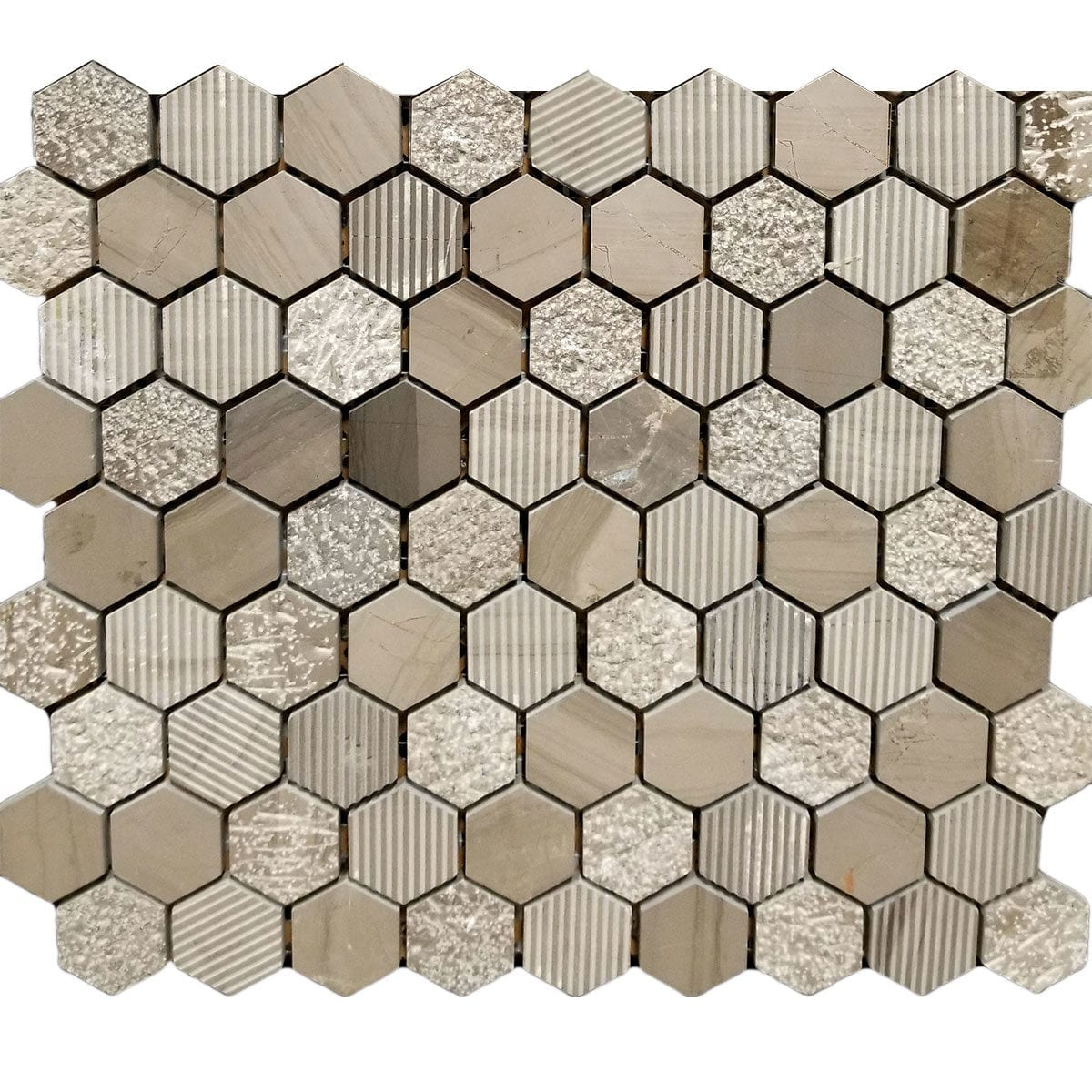 M50094 HEX SPA WHITE MARBLE