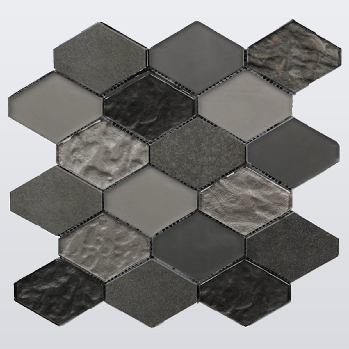 M50097 HEX SPA GREY BLACK MARBLE