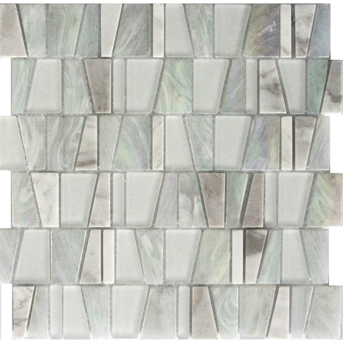 M50271 GEOSHAPES FROST WHITE CARARA MARBLE