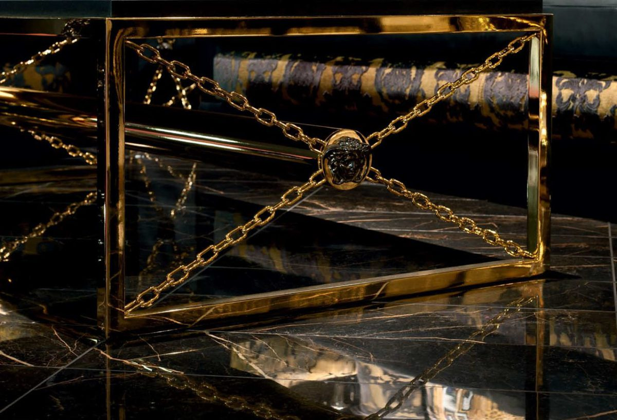 T10456 VERSACE MARBLE NERO 24X24 LAPPAT COVER
