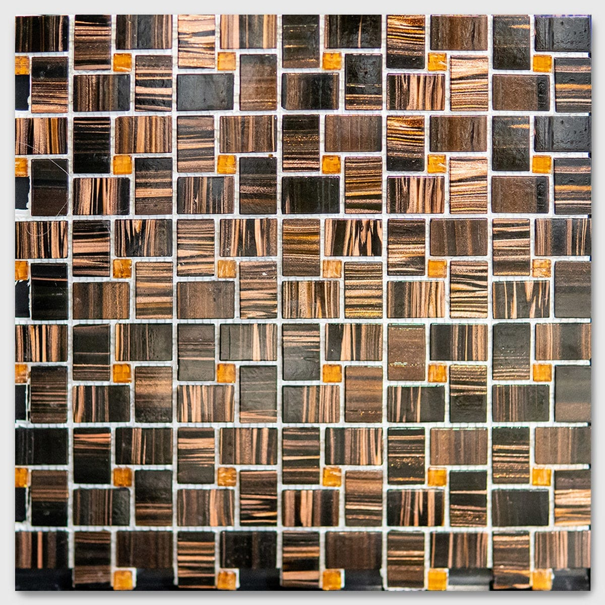 TIGER EYE 12X12 COPPER BLACK