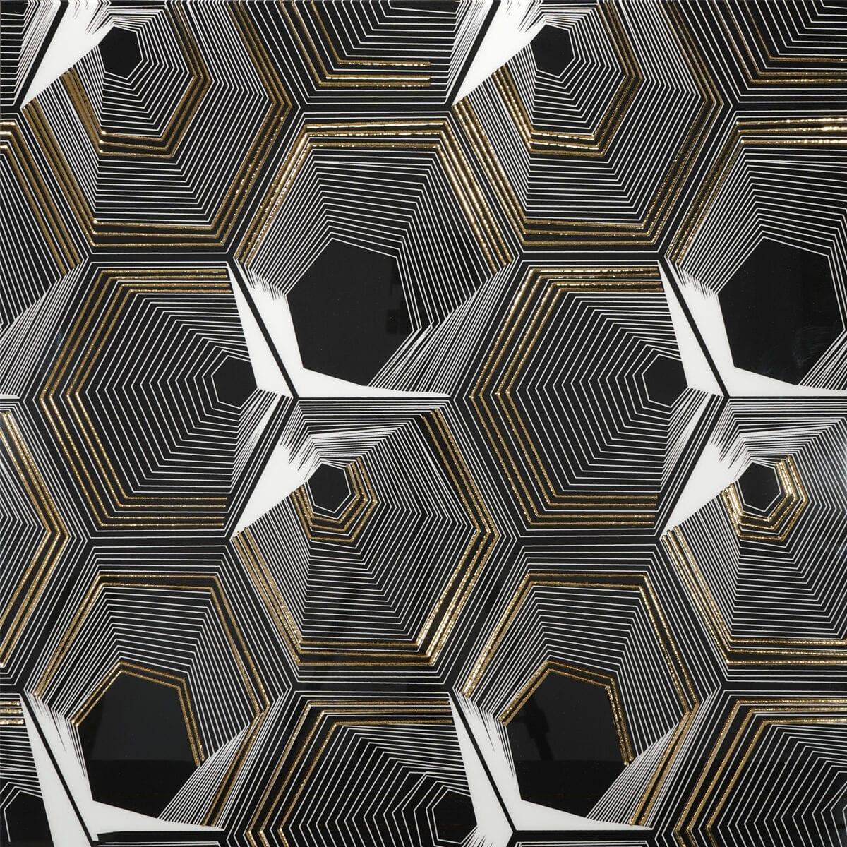 Helena Copper Grey Black 24x24 D50598