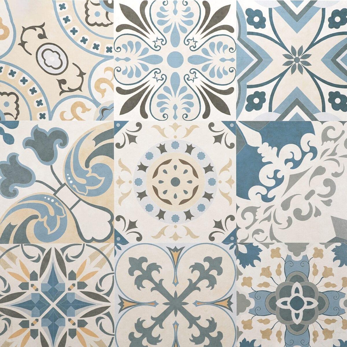 Imprimir Alcala Azul Tan Cream