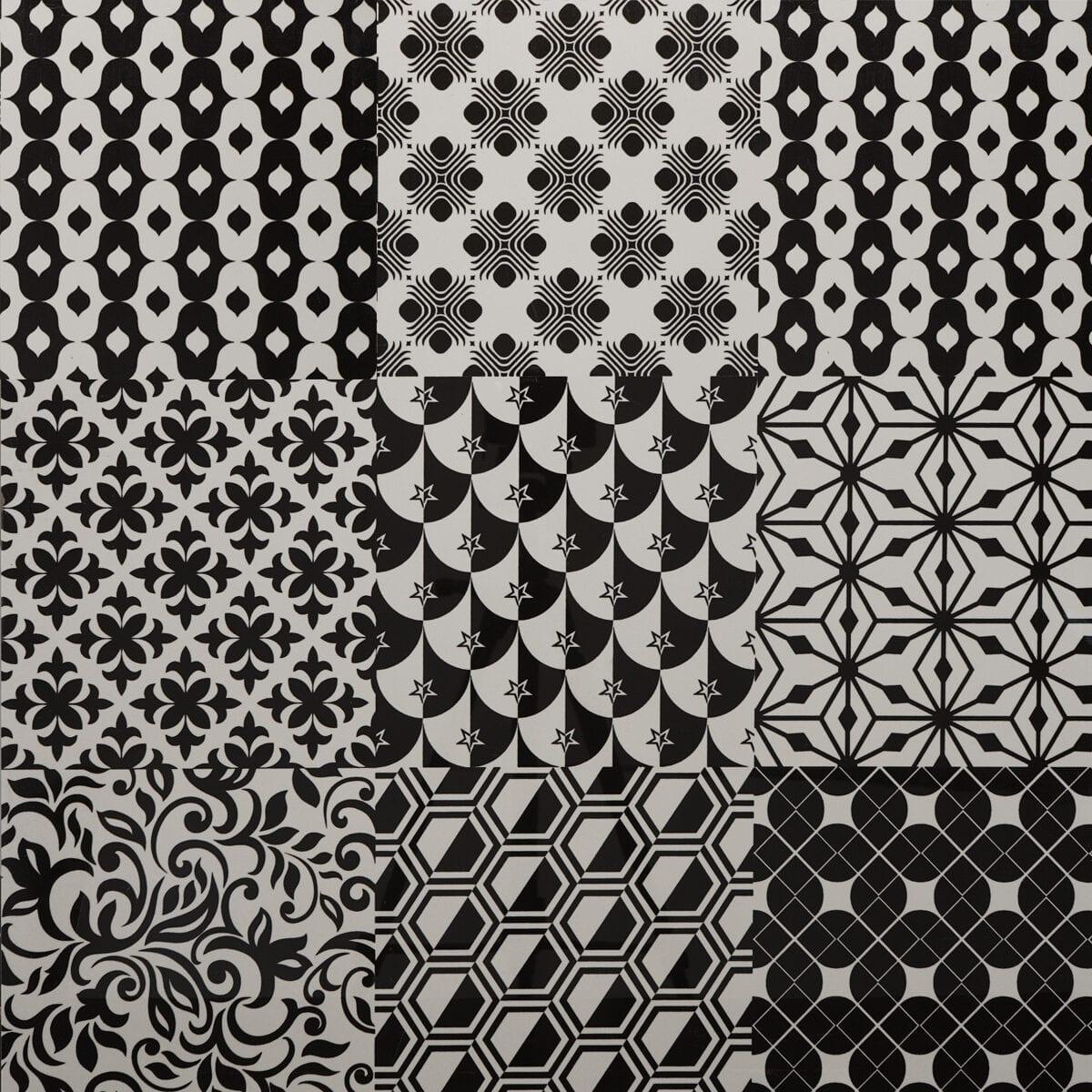 Imprimir Malaga Nero Blanco 24x24 D00028