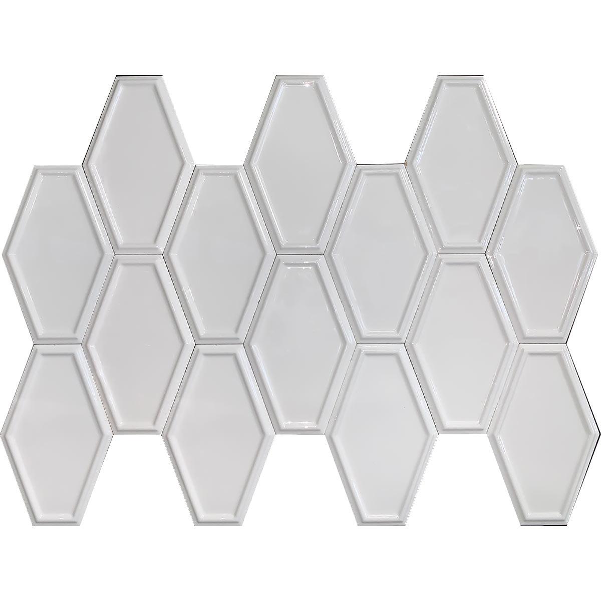 D00087 TART 3D O WHITE GLOSSY 1