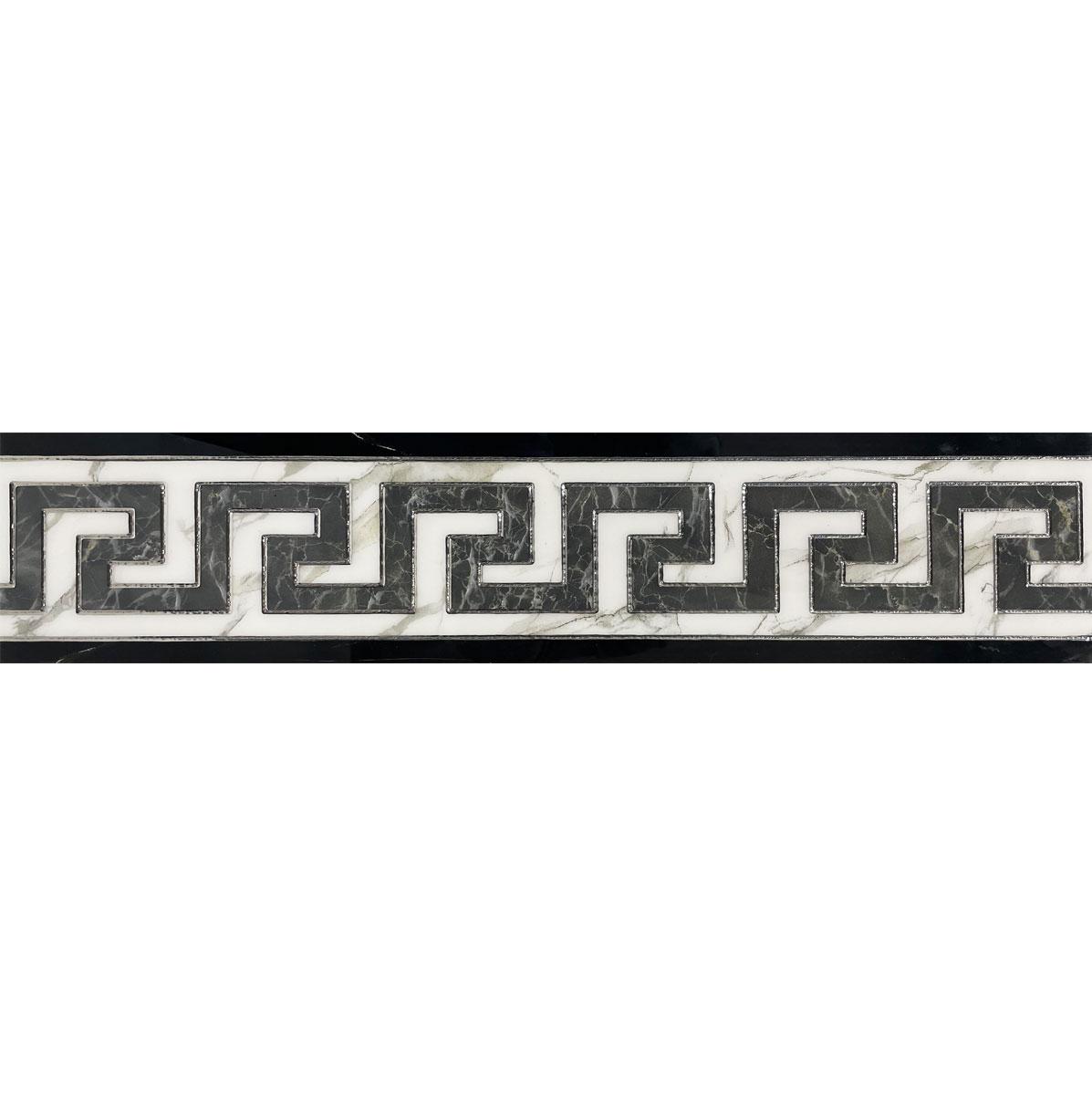 HALLMARK BORDER L00028 6X24 WHITE GREY BLACK