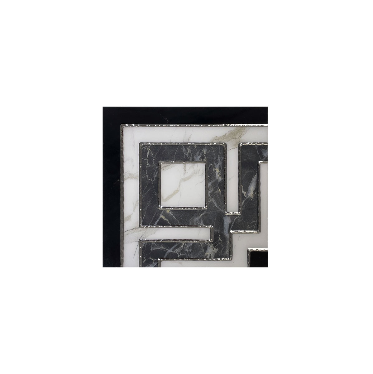 HALLMARK BORDER L00029 6X6 WHITE GREY BLACK