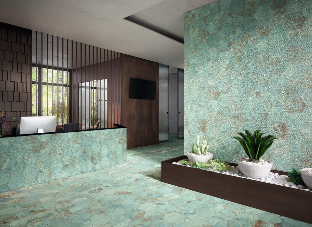 ZINC GREEN Hexagon naturalrelieve WEB