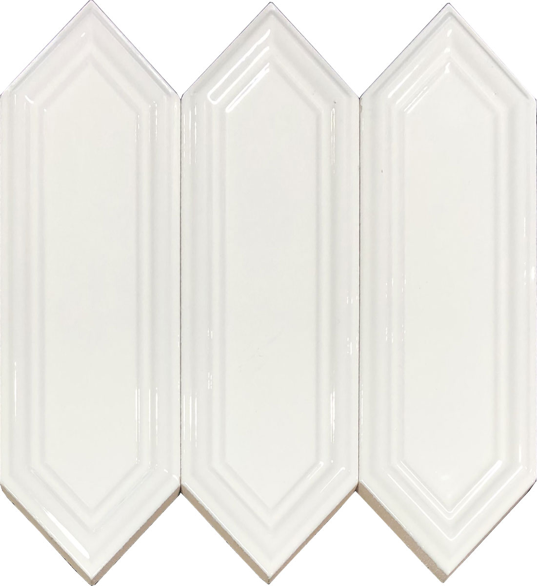 D00091 DUCT 3D WHITE GLOSSY