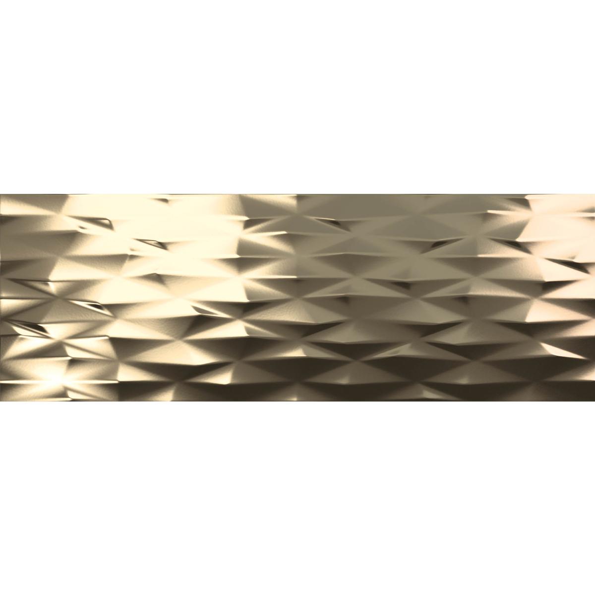 D00271 DECOR PRISMA GOLD MATTE13X36 PP1