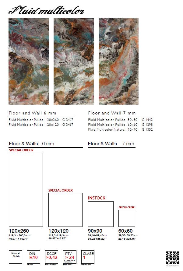 FLUID MULTICOLOR NATURAL 36x36 PRODUCTHSEET