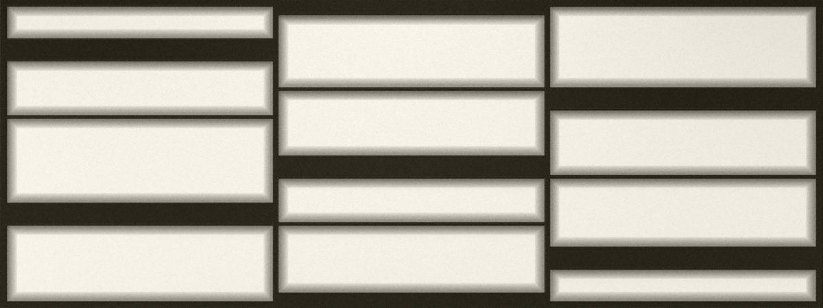 W00306 LUMINA BEVEL MIX BLACKWHITE 18X48 P1 scaled